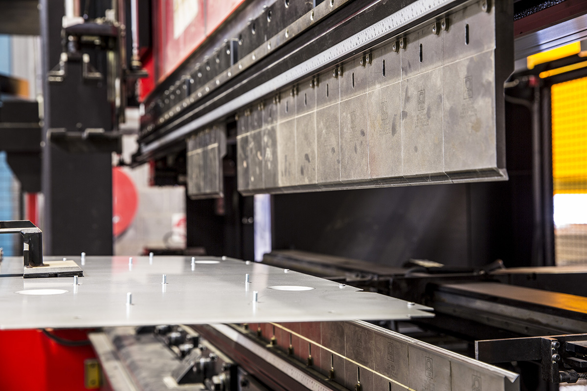 Sheet Metal folding machine at the FORM2000 factory in Melbourne