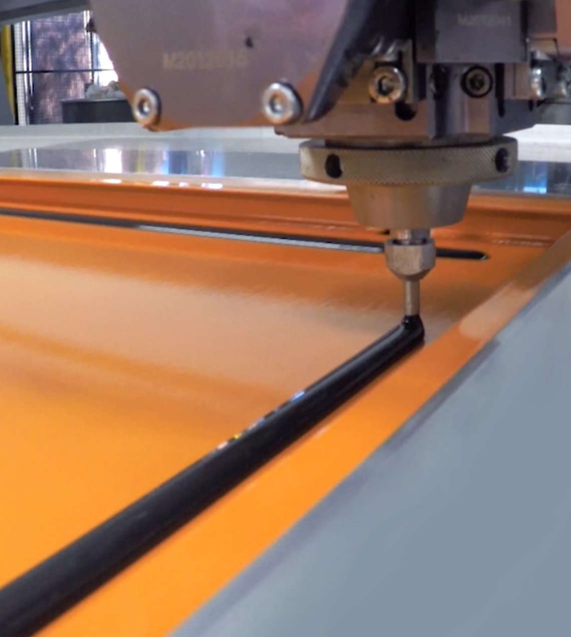 Automated Sheet Metal Form-in-Place Foam Gasket Application Machine at the FORM2000 factory in Melbourne