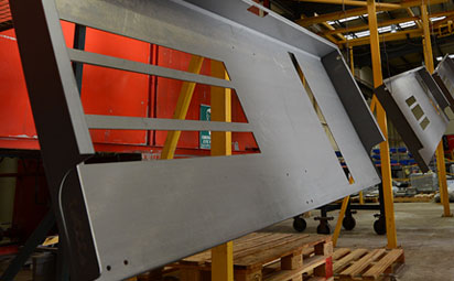 Large sheet metal lighting Components