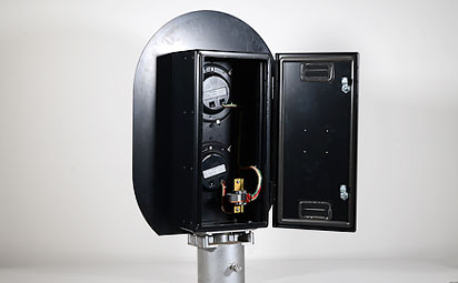 traffic signals with custom sheet metal enclosure